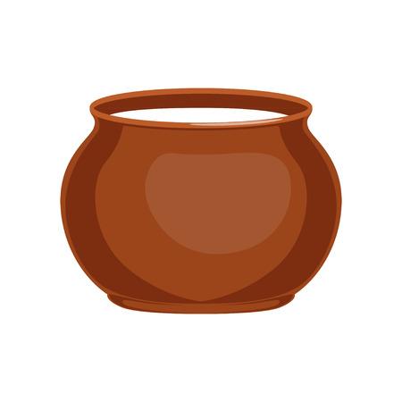 Crème sure en pot d'argile, illustration vectorielle de produits laitiers frais et sains Banque d'images - 94353951