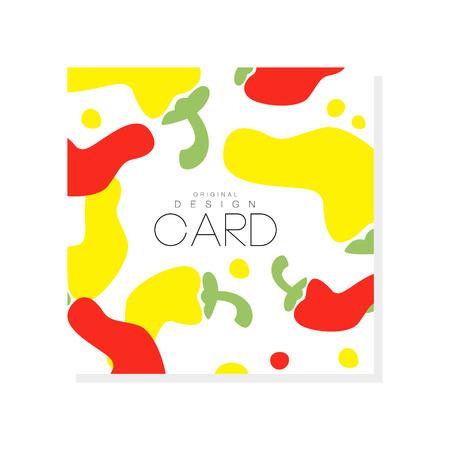 抽象的なホットレッドと黄色のコショウと創造的なイラスト。有機野菜のコンセプト。食料品店、製品ラベルや農家市場のためのグラフィックデザ