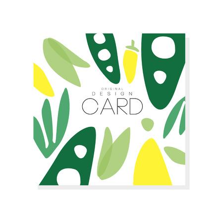 추상 야채와 함께 다채로운 그림입니다. 건강한 음식. 유기 영양. 손으로 그린 벡터 디자인 식료품 점, 제품 포장 또는 홍보 포스터