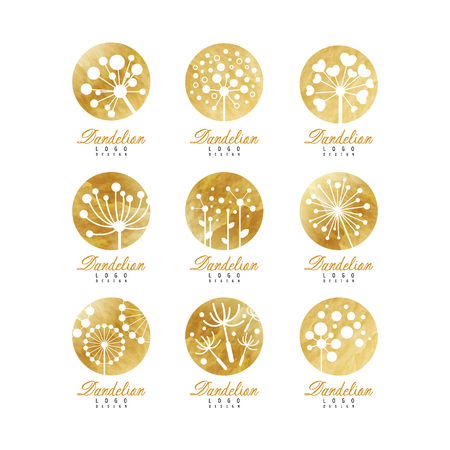 Dandelion icon template set