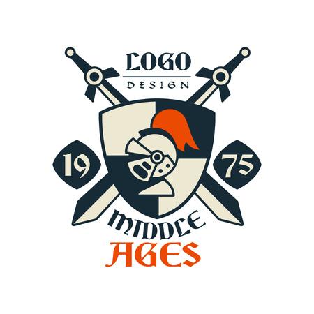 Middle ages emblem design vector illustration Ilustracja