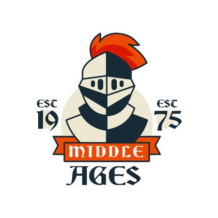 Middle ages vintage badge