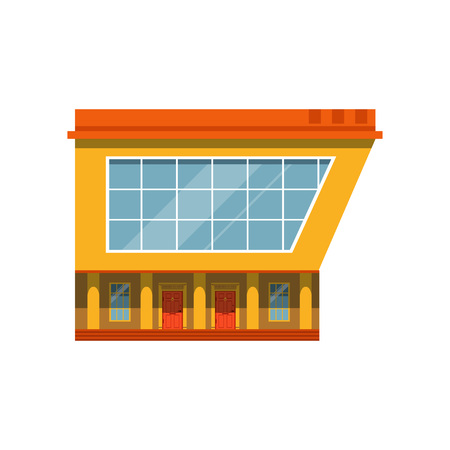 Store facade, exterior of market, modern building vector Illustration