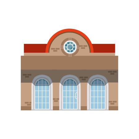 Store shop front window building, public building facade vector Illustration Illustration