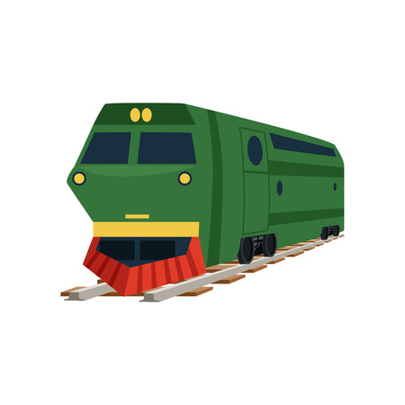 Green cargo railway train locomotive vector Illustration Illustration