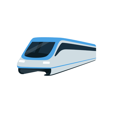 Super streamlined high speed train locomotive, passenger waggon vector Illustration