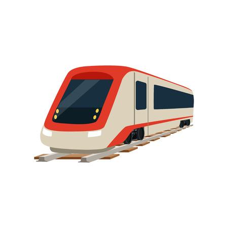 スピード現代高速鉄道列車機関車ベクトルイラスト  イラスト・ベクター素材