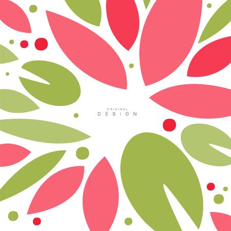 Leaves seamless pattern, original design, decorative template texture colorful vector illustration