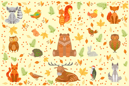 Forest pet Illustration Stock Illustratie