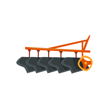 Ripper machinery, agriculture industrial farm equipment vector Illustration on a white background, flat style
