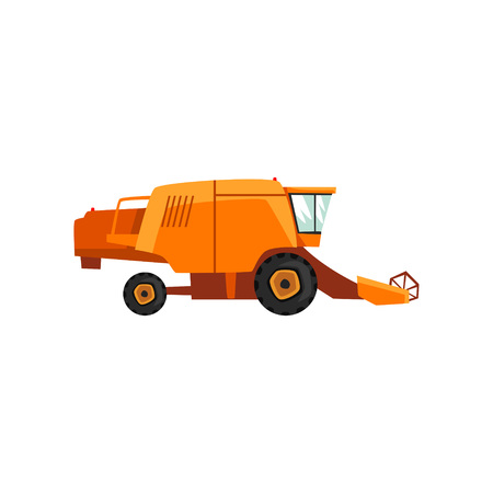 Harvester, agricultural machinery vector Illustration Illustration
