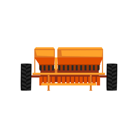 Agricultural seeder industrial farm equipment, farm machinery vector Illustration 일러스트
