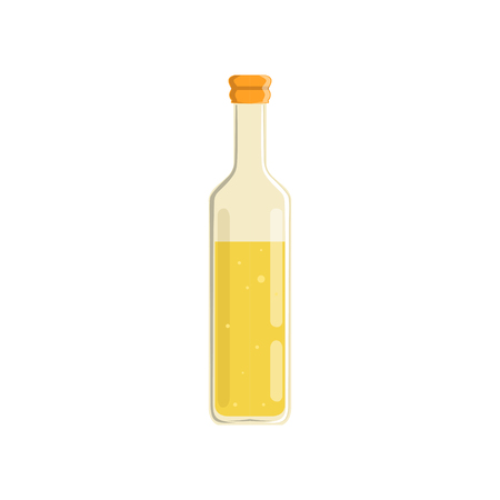 Glass bottle of oil vector Illustration