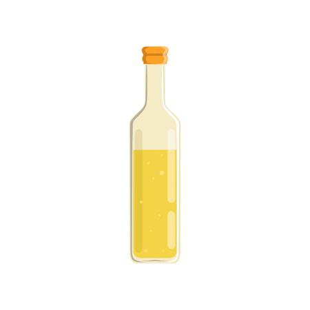 Glass bottle of oil vector Illustration