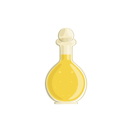 Glass bottle of vinegar vector Illustration. Ilustração