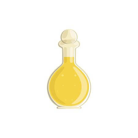Glass bottle of vinegar vector Illustration. Illustration