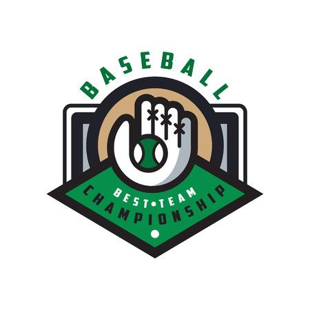 Baseball championship, best team logo template, design element for, badge, banner, emblem, label, insignia vector Illustration on a white background Illustration