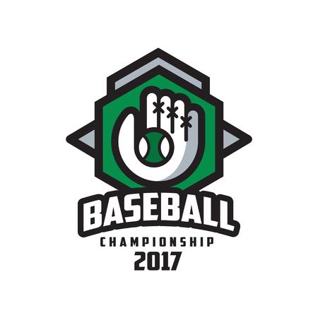 Baseball championship 2017 logo, design element for, badge, banner, emblem, label, insignia vector Illustration on a white background Illustration