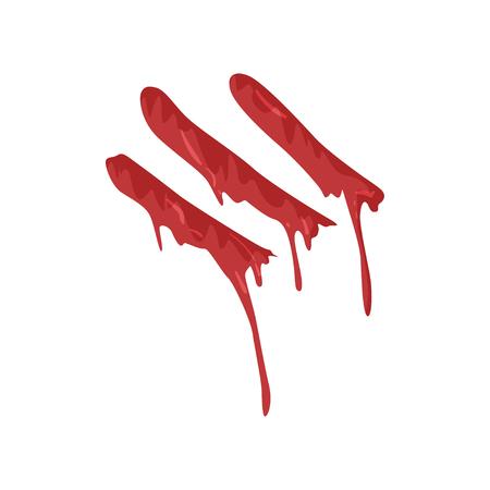 Huella digital sangrienta con rayas ilustración vectorial sobre un fondo blanco Foto de archivo - 96059622