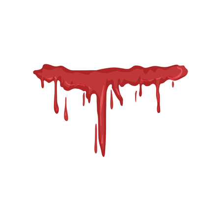Dripping blood vector Illustration on a white background