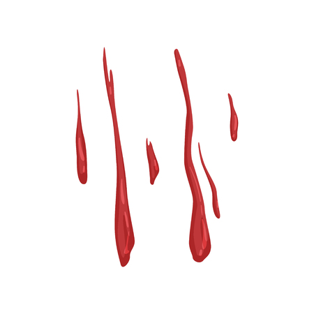 Blood stains vector Illustration on a white background Illustration