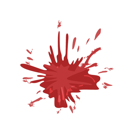 Blood stain, splash of red ink vector Illustration on a white background Stock Illustratie