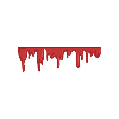 Blood dripping, flowing red liquid vector Illustration on a white background Stock Illustratie
