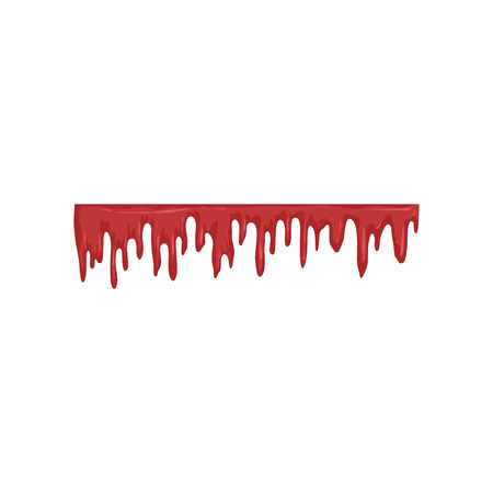 Dripping blood, flowing red liquid vector Illustration on a white background