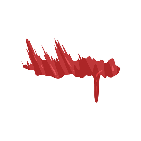 Red brush stroke, dripping blood vector Illustration on a white background Stock Illustratie