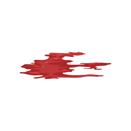 Red brush stroke, blood trail vector Illustration on a white background Stock Illustratie