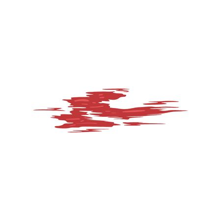 Rode penseelstreek vector illustratie geïsoleerd op een witte achtergrond. Vector Illustratie