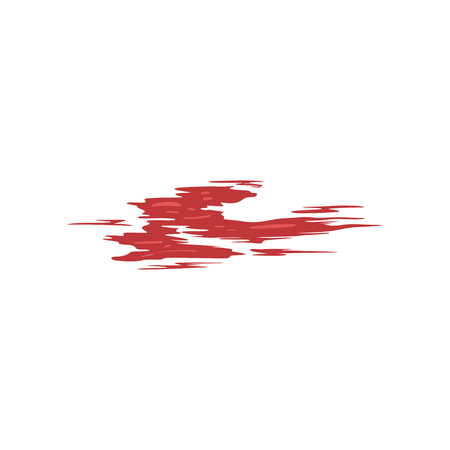 Red brush stroke vector Illustration isolated on a white background.