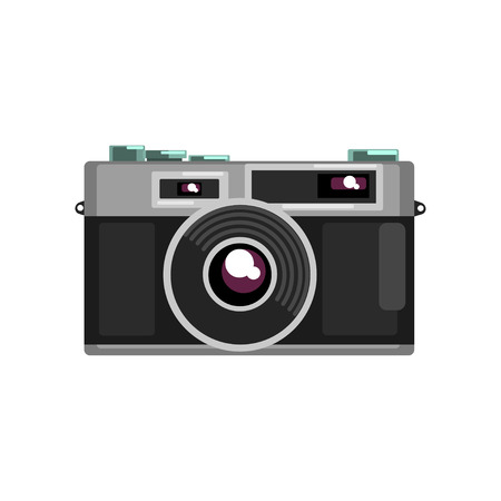 Retro photo slr camera vector Illustration on a white background 写真素材 - 96395749