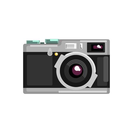 Vintage photo slr camera vector Illustration on a white background  イラスト・ベクター素材