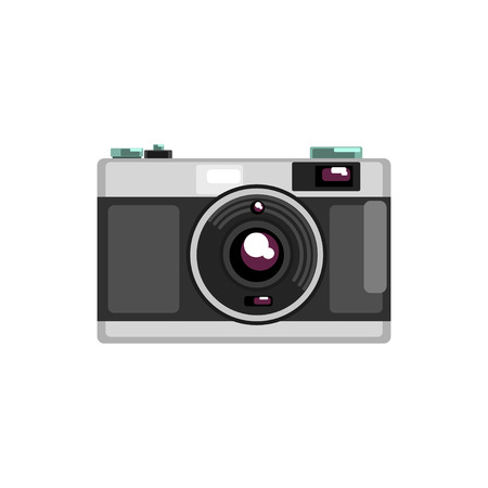Vintage photo camera vector Illustration on a white background