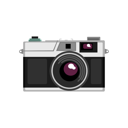 Old rangefinder camera vector Illustration on a white background Standard-Bild - 96395863