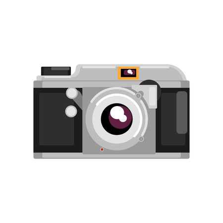 Retro photo camera vector Illustration on a white background Stock Illustratie