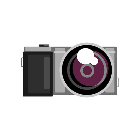 A Photo camera vector Illustration on a white background