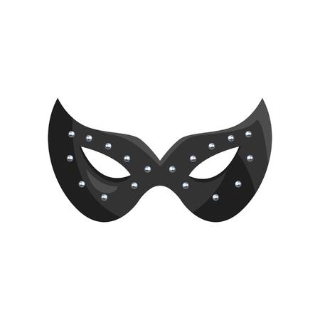 ブラックレザーマスク、ロールプレイングのためのフェティッシュなものとbdsmベクトルイラストレーション。  イラスト・ベクター素材