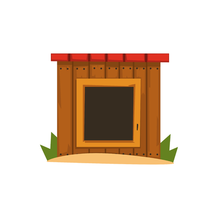 Wooden doghouse vector Illustration on a white background