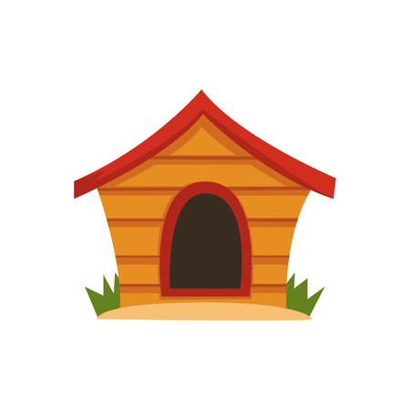 Wooden house for dog vector Illustration on a white background Stock Illustratie