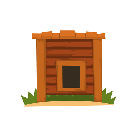 Wooden empty kennel vector Illustration on a white background Illustration
