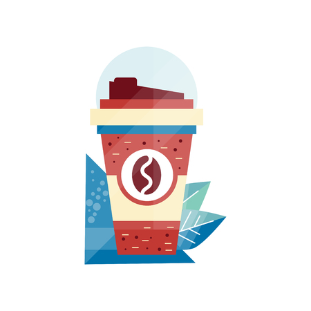 Paper coffee cup vector Illustration on a white background