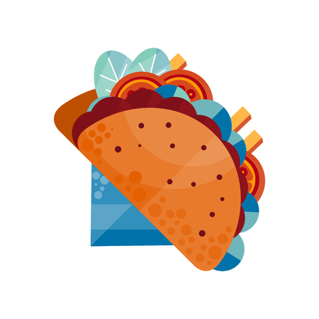 Tacos vector Illustration isolated on a white background