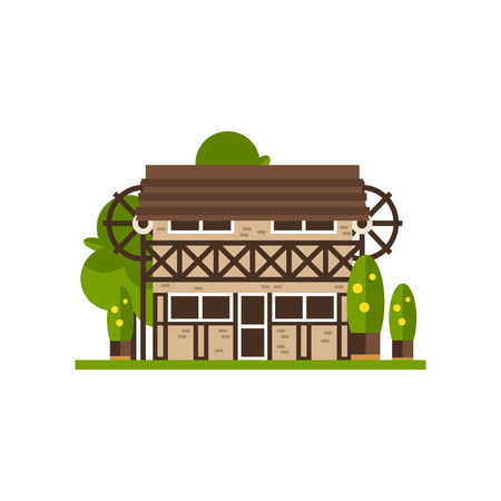 Rural building, countryside construction vector Illustrations isolated on a white background. Standard-Bild - 96992877