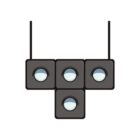T-shaped traffic light with white lamps to control movement of trams. Road equipment for controlling motion of rail vehicles.
