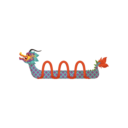 Dragon Boat With Paddles Symbol Of Chinese Traditional Festival