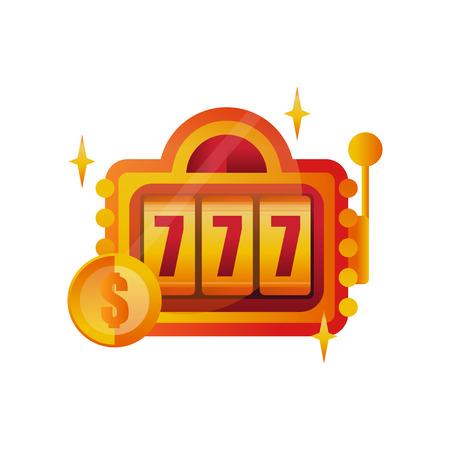 Slot machine image illustration  イラスト・ベクター素材