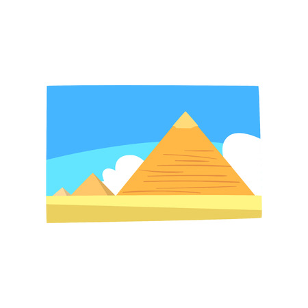 Egyptian pyramids illustration Stock Illustratie