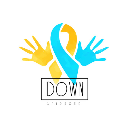 Creative emblem for medical center or organizations helping people with Down Syndrome.
